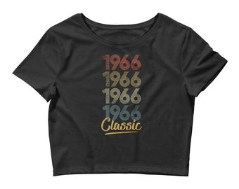 1966 Classic Bella And Canvas Women's Crop Tee