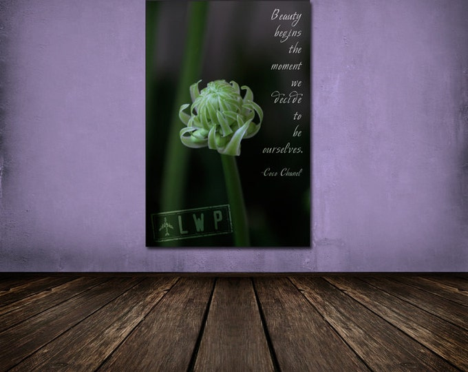 Coco Chanel Beauty Quote Photo Art Print – 6 Sizes Available