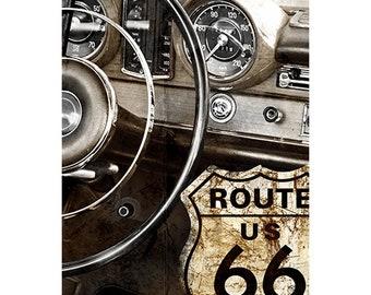 Old Car, Colorful Wall Art, Digital Art, Printable Poster, Digital Download, Printable Photography, Printable Art,  Photographic Collage