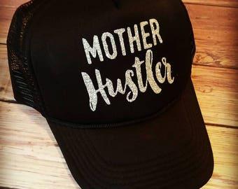 Mother Hustler Trucker hat, trucker hat, mother hustler, mothers day