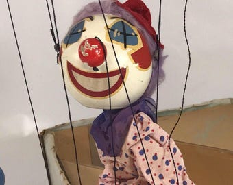 Talentoon/ Pim-Bo the clown /marionette/puppet/ vintage clown/ vintage tv show