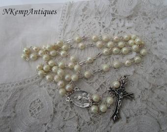Pearl rosary Lourdes