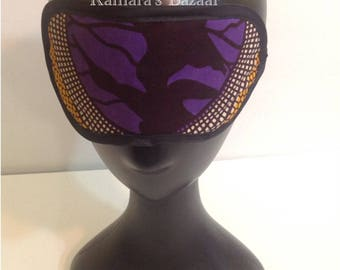 Purple Ankara Sleeping Mask