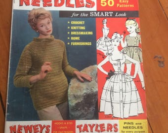 Knitters Australian Pins And Needles 1961 50 Patterns in top condition