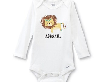 Personalized Lion Onesie