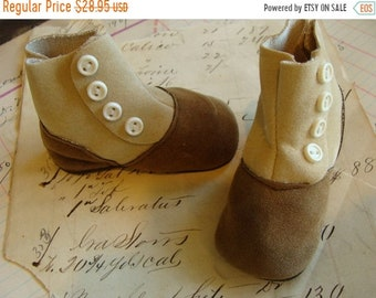 ONSALE Antique Victorian Button up Doll Boots Unused