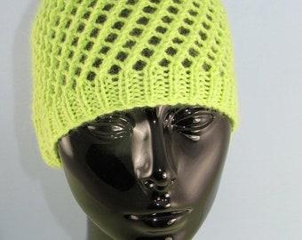 HALF PRICE SALE knitting pattern digital pdf download - Easy Lace Skullcap pdf knitting pattern