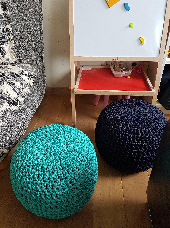 Excepcional Puf Azul Muebles Otomana Inspiración - Muebles Para ...