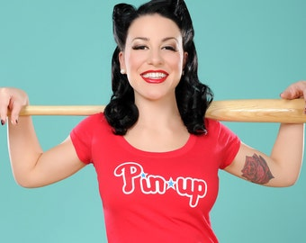 "Vintage Style ""Philly Pin-up"" Woman's Graphic Tee"
