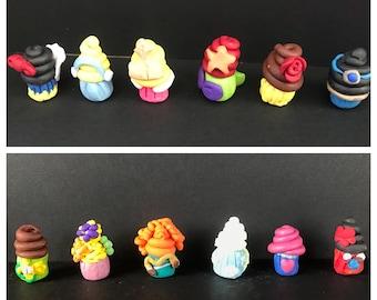 Disney Princess Polymer Clay Cupcake Figurines