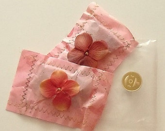 PAPER SACHETS, set of 2 sweetly scented sachets for your wardrobe or room