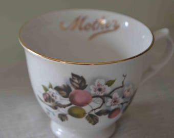 SALE Old Foley 'Mother' fine bone china cup  James Kent Made in England  Mother's Day  Birthday  Vintage china