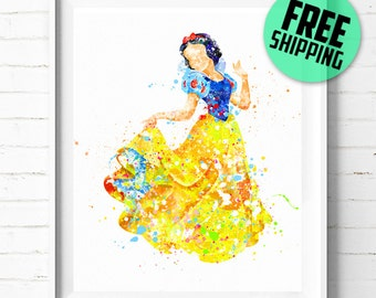 Disney Snow White print, Disney print, Disney Princess Snow White poster, Disney poster, Snow White art print, wall art, kids Decor, 357