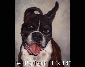 """11""""x14"""" Pet Portrait - Oil on Canvas by Maria Burd"""