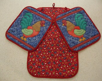 Rooster Potholder set