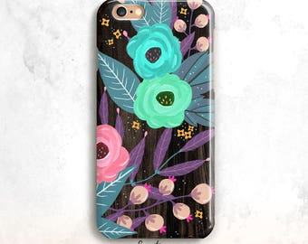 Floral iPhone 8 Case, Flowers iPhone X Case, iPhone SE Case, iPhone 6 Plus, iPhone 5S, Floral iPhone 6 Case, Flowers iPhone 7, iPhone 8 Plus