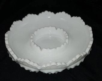 Vintage Fenton Hobnail Milk Glass Ash Tray