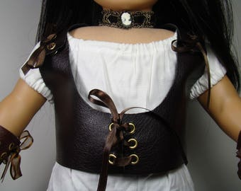 "Laced Cosplay Vest for 18"" Play Dolls such as American Girl®"