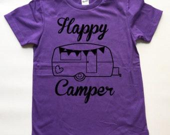 Happy Camper Tee // Kids Tee // Toddler Tee // Happy Camper // Camping  // Kids t-shirt