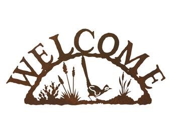 Road Runner Steel Welcome Sign