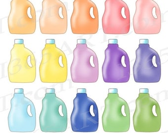 50% OFF Laundry Detergent Clipart, Detergent Clip art, Rainbow, Laundry soap, Planner clipart, Graphics, Stickers, Icons, Commercial