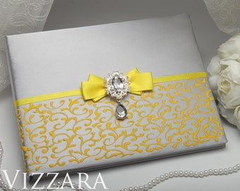 Wedding guest book alternatives Yellow and grey wedding Unique wedding guest book Grey wedding Guest wedding books Grey tux wedding