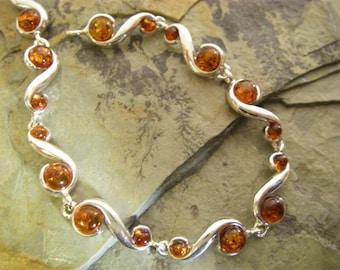 Amber Bead Bracelet