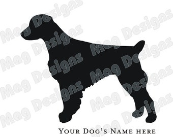 Epagneul Breton Vinyl chien Decal Silhouette sur Etsy ou vous choisissez la couleur
