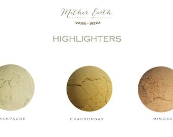All Natural Highlighting Powder - Contouring - Make Up - Cosmetics - Beauty Care - Bronzer - Sculpting - Women - Gift - Organic - Blush