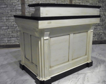 Medium reception desk French Antique Repro.