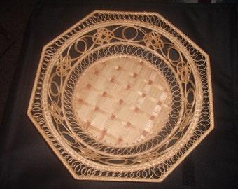 Vintage BASKET Decorative BOWL