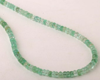 COLOMBIAN EMERALD Faceted Rondelles Neck-Piece gives you Power Of Wisdom & Knowledge..