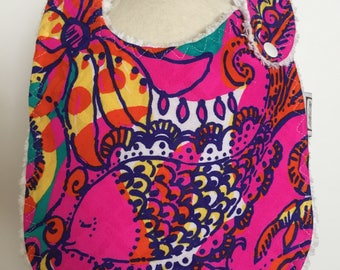 multi see and be seen ~ baby bib ~ lilly pulitzer ~ chic couture ~ boutique quality ~ baby bib from lillybelle designs