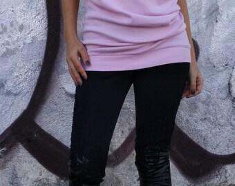 Pink Tunic Cotton Tunic/ Oversize Asimmetic Tunic/ Top / Cotton dress / Loose Woman Tunic / Cotton Blouse