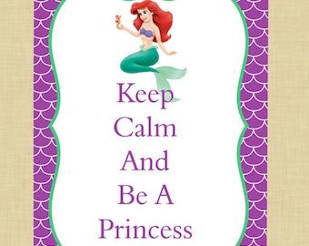 The Little Mermaid Keep Calm Art
