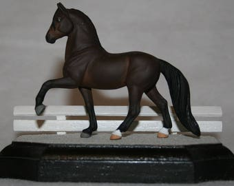 Sand Dressage Display Base for Model Horses (Stablemate scale, 1:32)