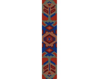 Geometric 48 Peyote Bead Pattern, Bracelet Pattern, Bookmark Pattern, Seed Beading Pattern Miyuki Delica Size 11 Beads, PDF Instant Download