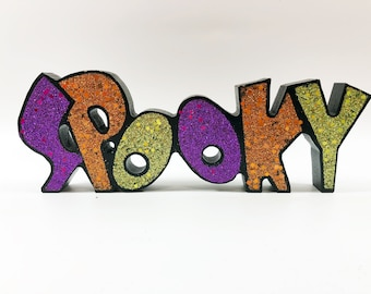 Gerson Halloween Decor - Table Top Word Sign (Spooky)