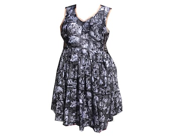 Vee Sleeveless Down The Rabbit Hole Alice in Wonderland dress available on pre-order! Size 6 - 36
