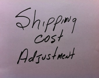 Shipping cost adjustment