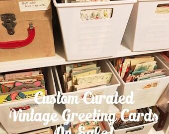 Vintage Greeting Card Grab Bag 10 Cards