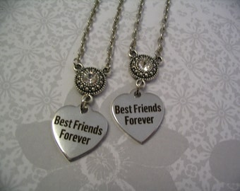Two Best Friends Forever Necklaces Friendship Jewelry Gift