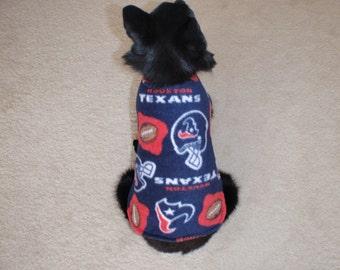 The Texans Fleece Dog Coat