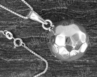 Silver Round Harmony Ball, Hammered Harmony Ball, Angel Caller, Bola Ball, Maternity Gift. Bola Bell, Mom to Be Gift