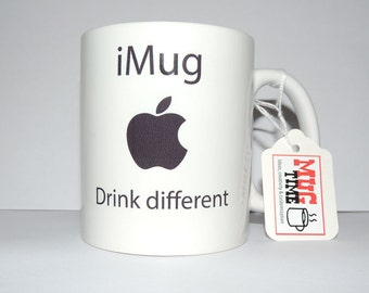 iMug Drink Different - Mug Apple Gift Cup Present - Ceramic Sublimation