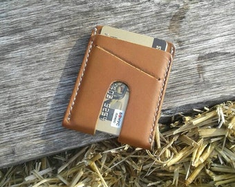 Brown slim wallet Leather credit card holder Men's simple wallet Thin leather wallet Minimalist leather wallet Gift for dad Bridal Party