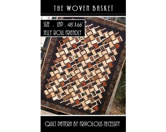 Quilt Pattern PDF The Woven Basket -- Bali Pop and Jelly Roll Friendly