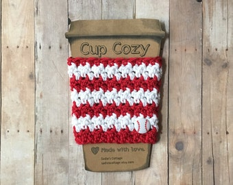 Cincinnati Reds, Coffee Sleeve, Cup Cozy, Cup Holder, Coffee Cup Cozy, Cup Sleeve, Coffee Cozy, Coffee Cup Sleeve, Reusable Coffee Sleeve
