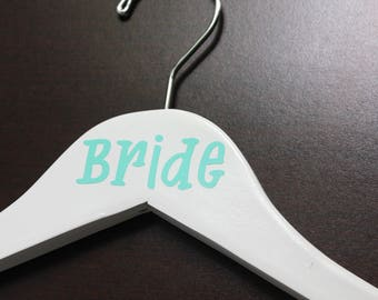 Wedding hangers with Titles, Bride Hanger, Bridesmaid Hanger, Maid of Honor Hanger, Bridal Party Hangers, Wedding Dress Hanger, Personalized