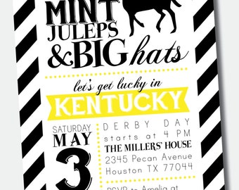 Customizable Kentucky Derby Party Invitation